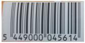 Code barre récupéré sur une canette