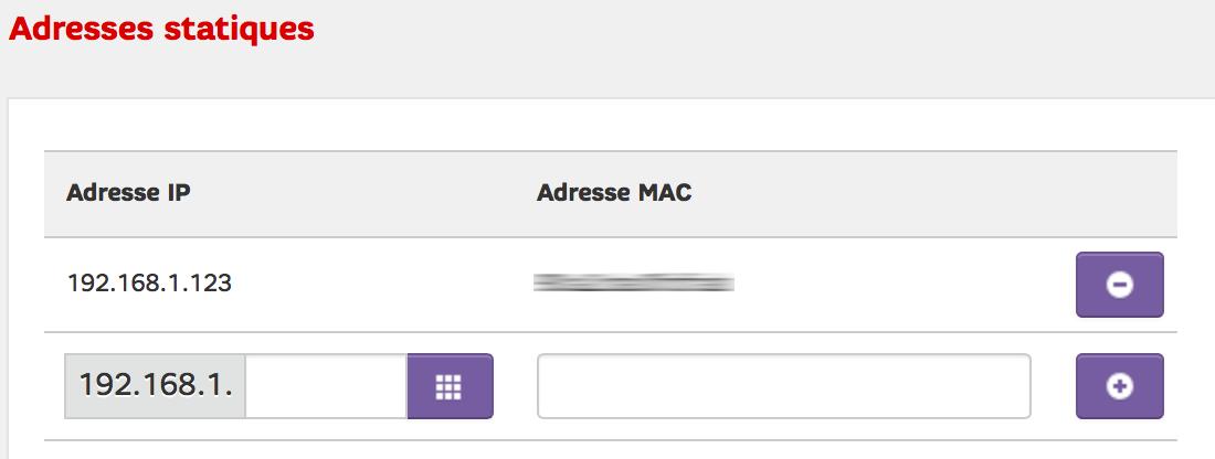 Associer une IP fixe à une adresse MAC