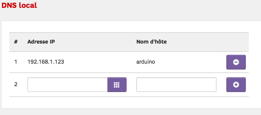 Associer une IP locale fixe à un nom