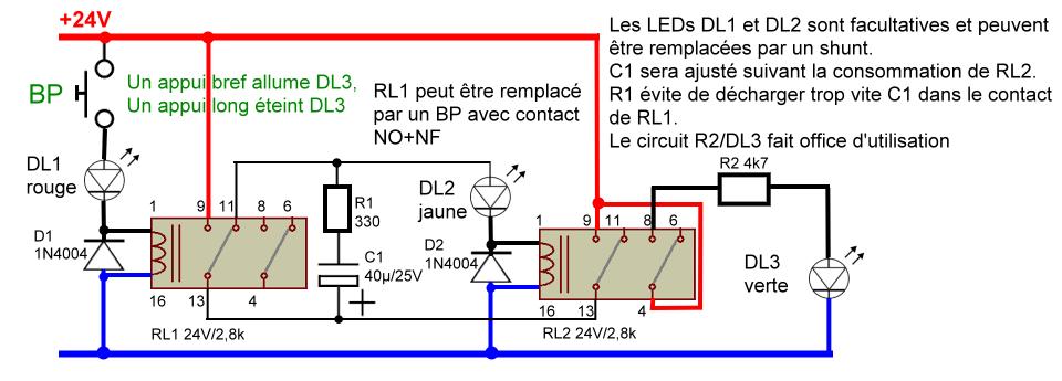 Allumer teindre une led avec un bouton sans arduino for Bascule transistor
