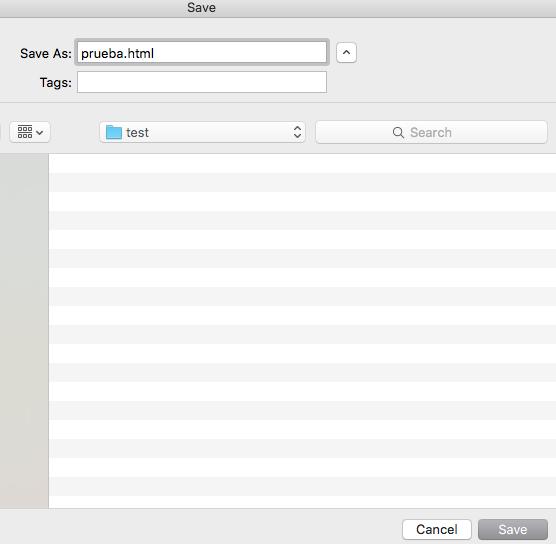 Guardando fichero en sublime y mac