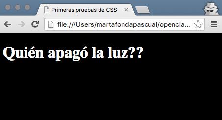 Poner fondo negro html