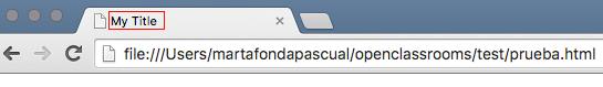 El título de la página figura en la parte superior del navegador