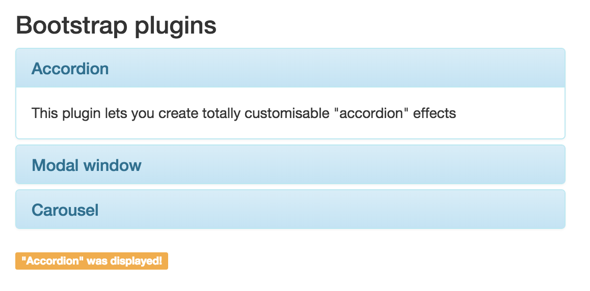 Jquery Plugins Dive Into Bootstrap Openclassrooms