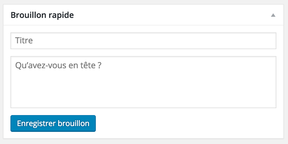 Brouillon Rapide