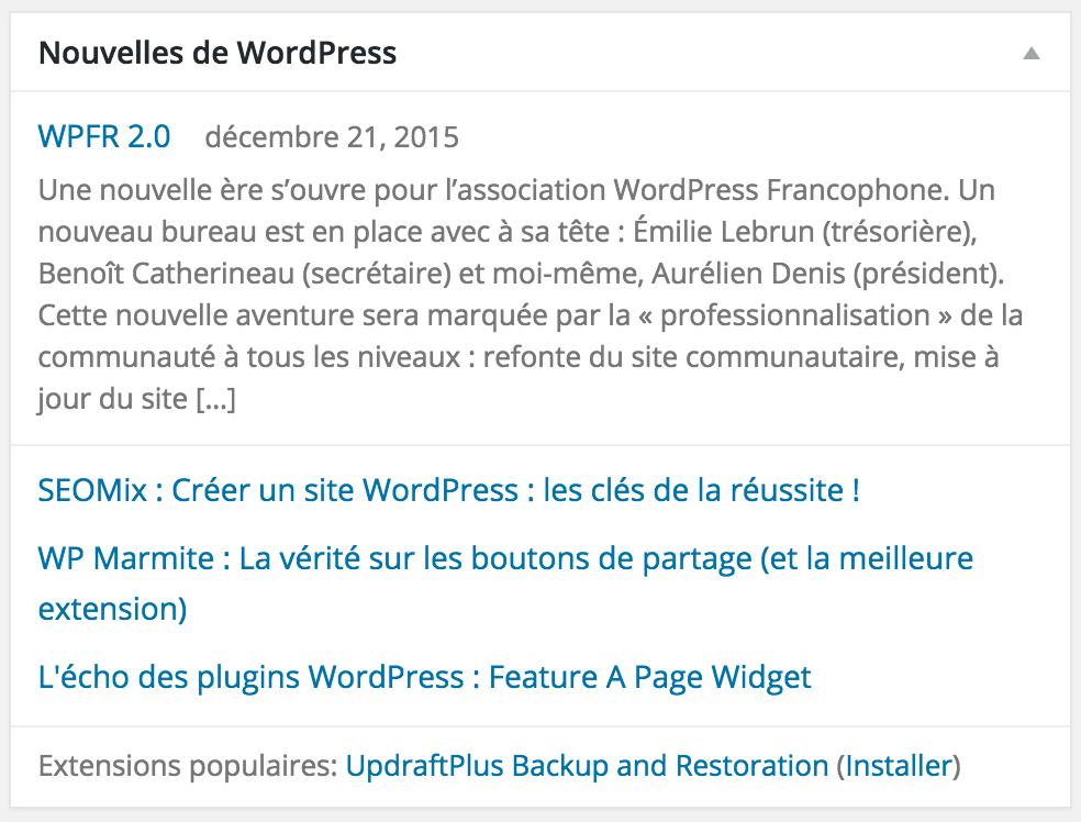 Nouvelles de WordPress