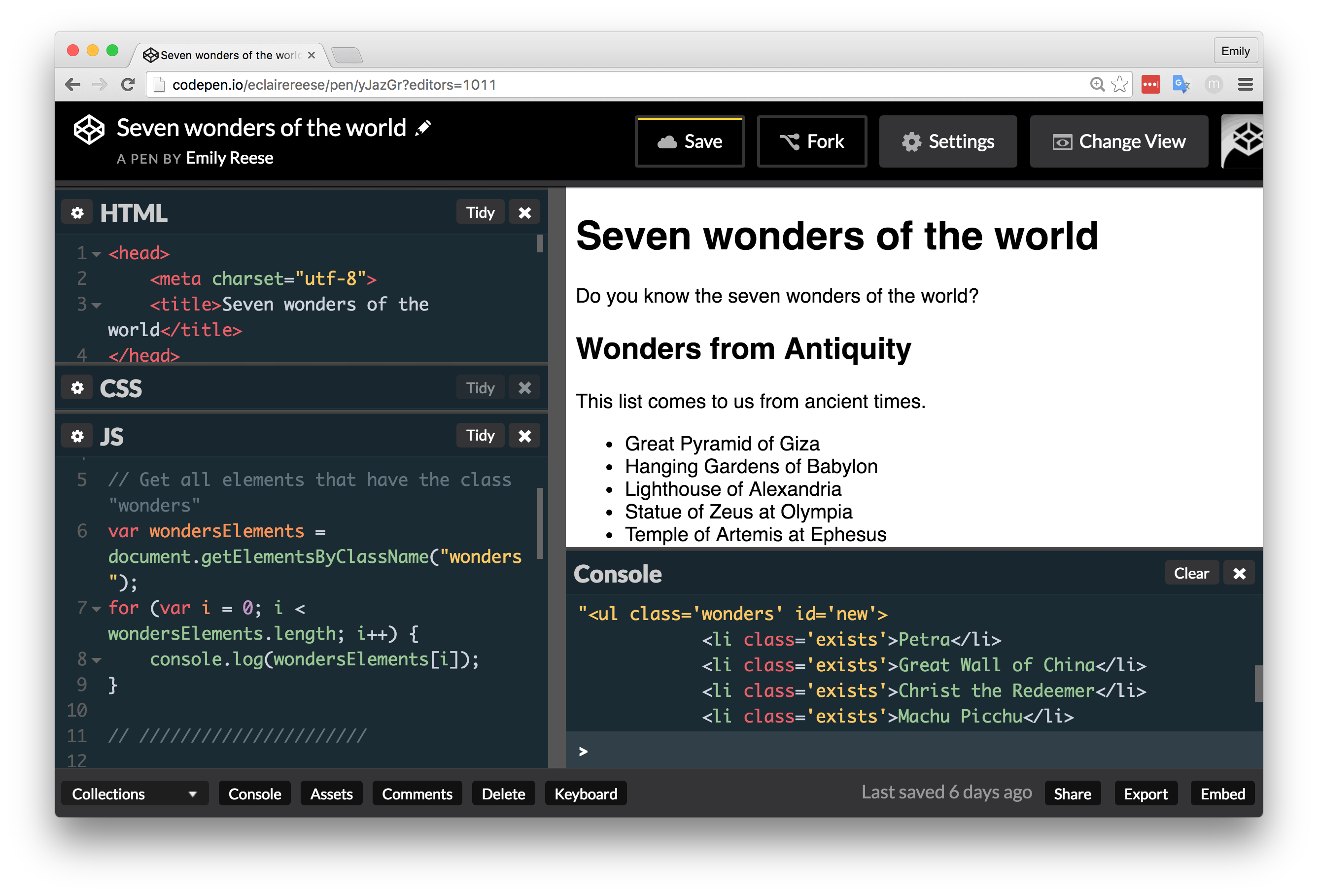 Traverse the DOM - Use JavaScript in your web projects - OpenClassrooms