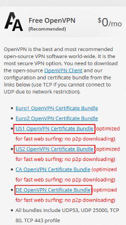 Je vous recommande l'usage des VPN US1, US2, ou DE dans le cadre de ce chapitre.