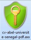 Exemple de fichier chiffré avec Axcrypt