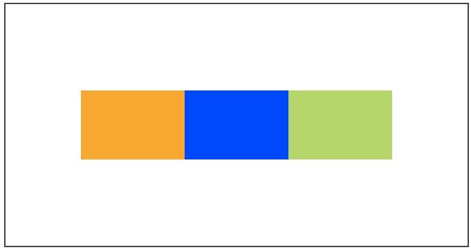 Un alignement sur l'axe secondaire nous permet de centrer complètement l'élément dans le conteneur !