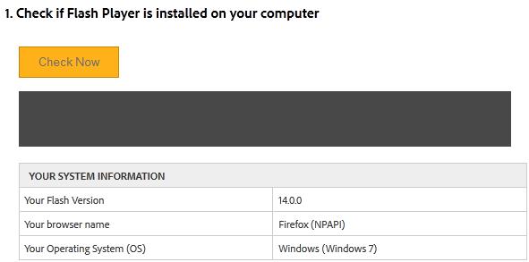 Vérifier Flash Player sur son ordinateur