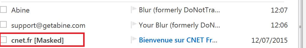 Message apparaissant dans la liste de messages de votre adresse mail principale, mais qui a été reçu sur une fausse adresse