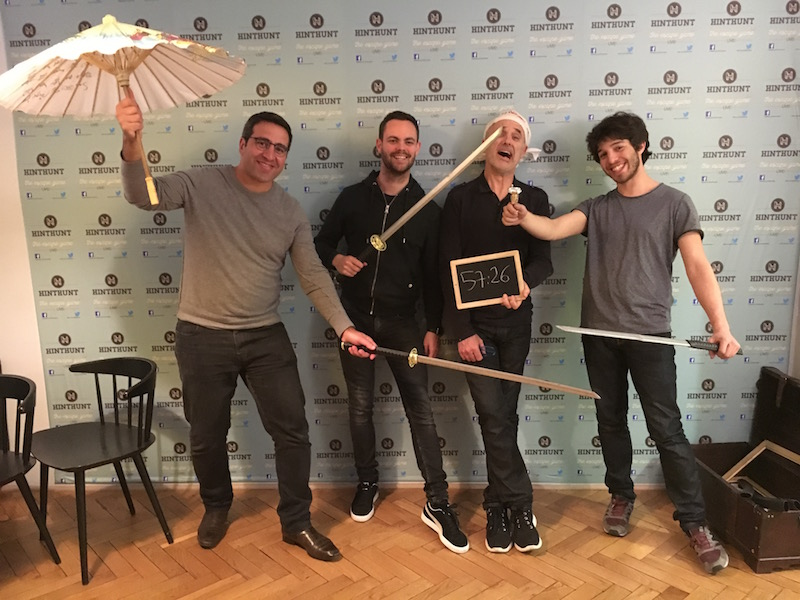 One of the teams who participated to an escape game