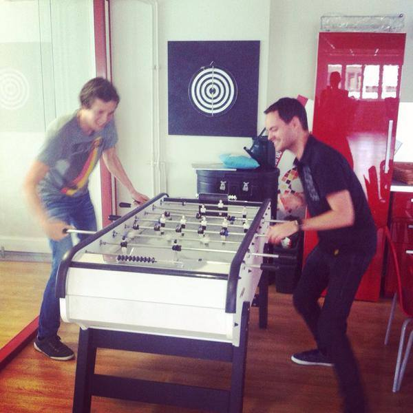 Yes, we have a foosball table