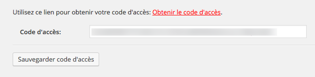 Le code top secret collé !
