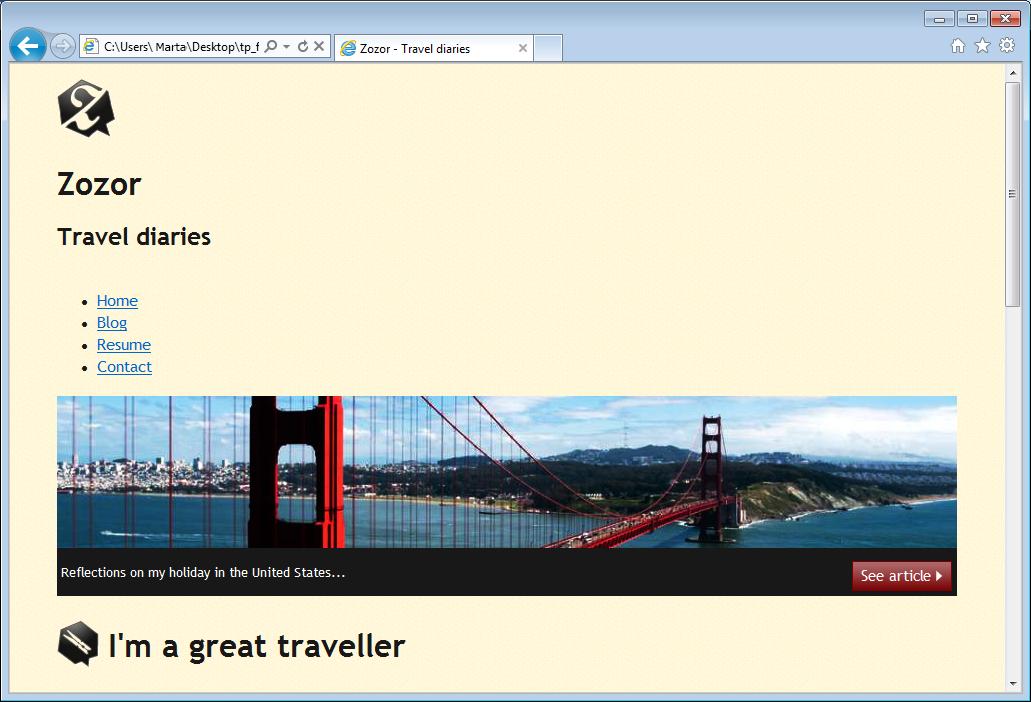 La página web en IE7: ¡nada está como toca!