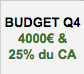 Budget marketing octobre, novembre et décembre