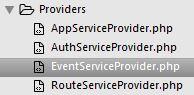 Le service provider pour les événements
