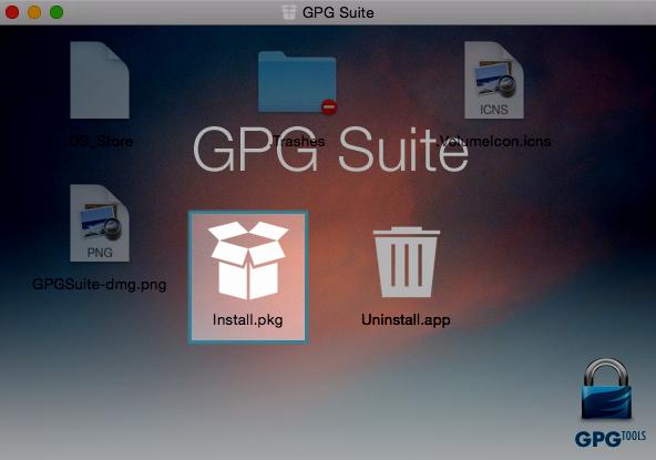 Installation de GPG sous Mac
