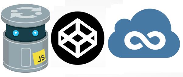 Logos for JSFiddle, JS Bin, and CodePen