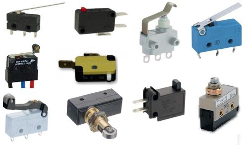 Les différents types de microrupteurs (robotastuces.free.fr)