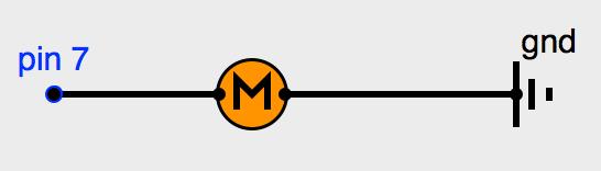 Connection moteur CC sur pin 7