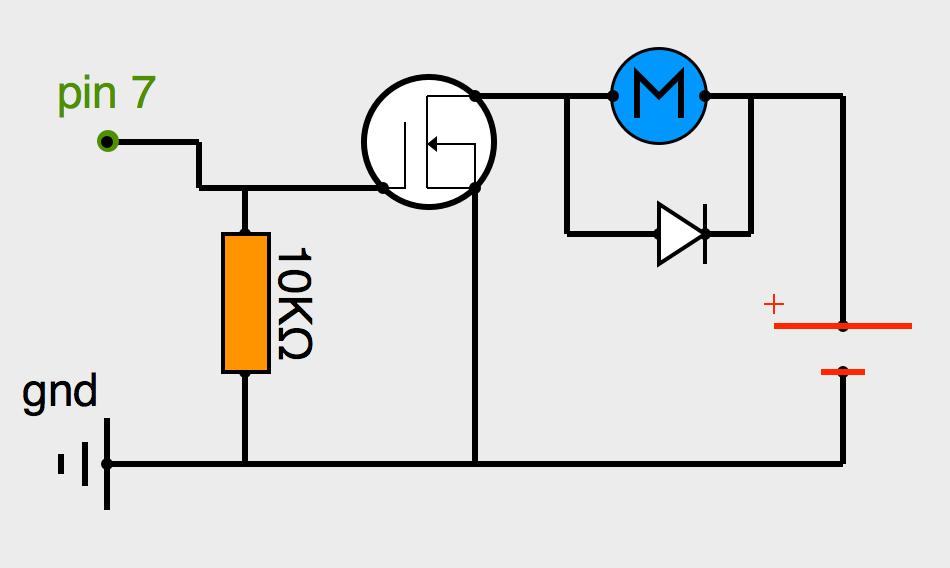 Alimentation séparée pour le pilotage d'un moteur avec MOFSET N