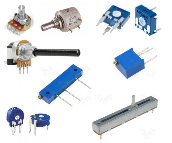 Différentes formes de potentiomètre analogiques (source : multi-rotor-fans-club.com)