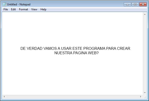 Captura de Notepad en Windows