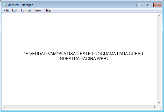 El programa Notepad