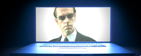L'agent Smith dans Matrix