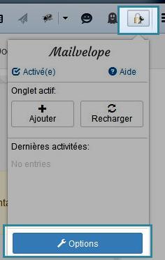 Options de Mailvelope dans Firefox