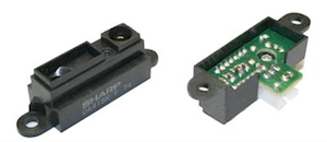 Un capteur de distance infrarouge du commerce (www.robotshop.com)