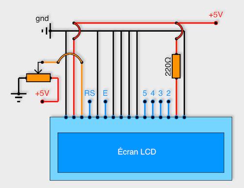 Connexion écran LCD avec Arduino.