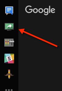 Bouton partage d'écran sur Hangouts