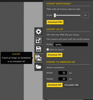 Choisissez le format dans lequel vous souhaitez exporter votre avatar