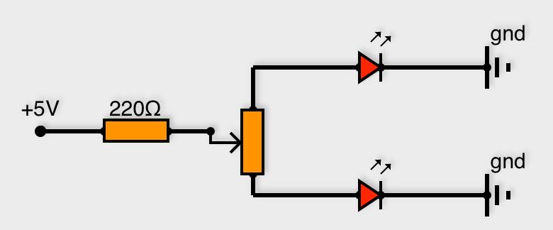 Montage pour faire varier deux diodes en opposition