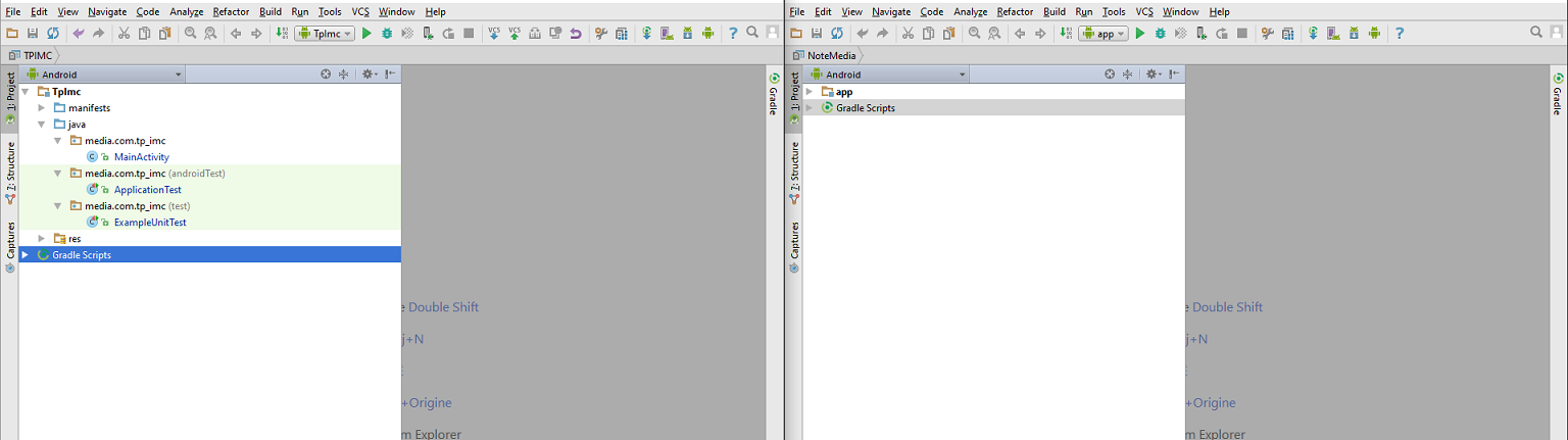R solu probl me multi projet sur android studio for Multi fenetre android