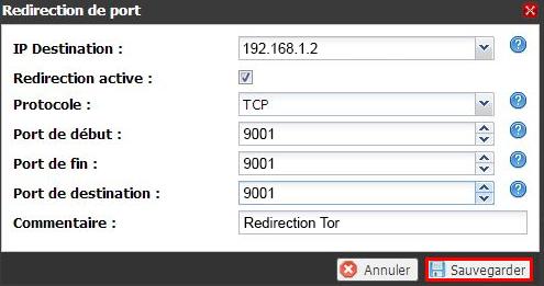 Paramétrage de la redirection de port sur une Freebox