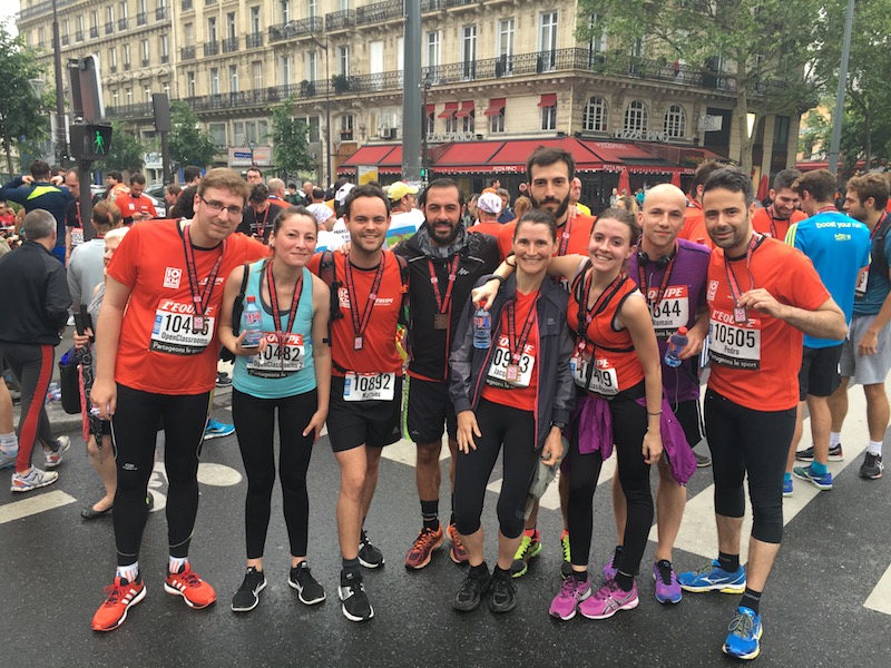Runners at OpenClassrooms (Paris 10km event)