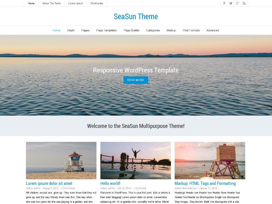 Le thème SeaSun