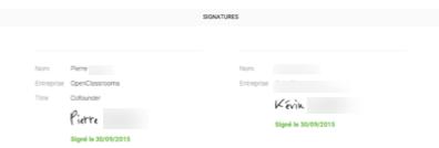 La signature se fait sur une interface en ligne en quelques secondes