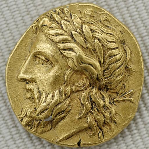 Une monnaie grecque représentant Zeus : le statère