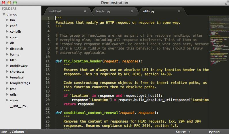 Proyecto  en lenguaje Python en SublimeText