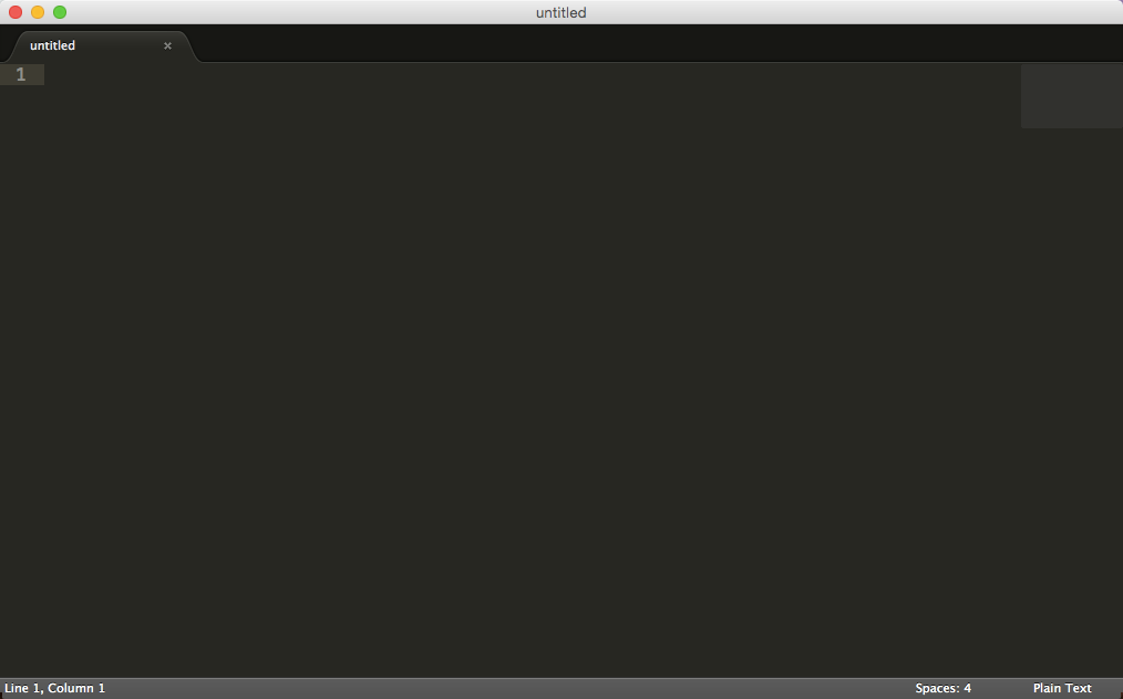 Ouverture de Sublime Text