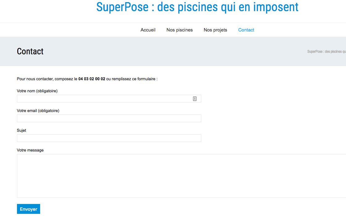 installez un formulaire de contact - cr u00e9ez votre site professionnel avec wordpress