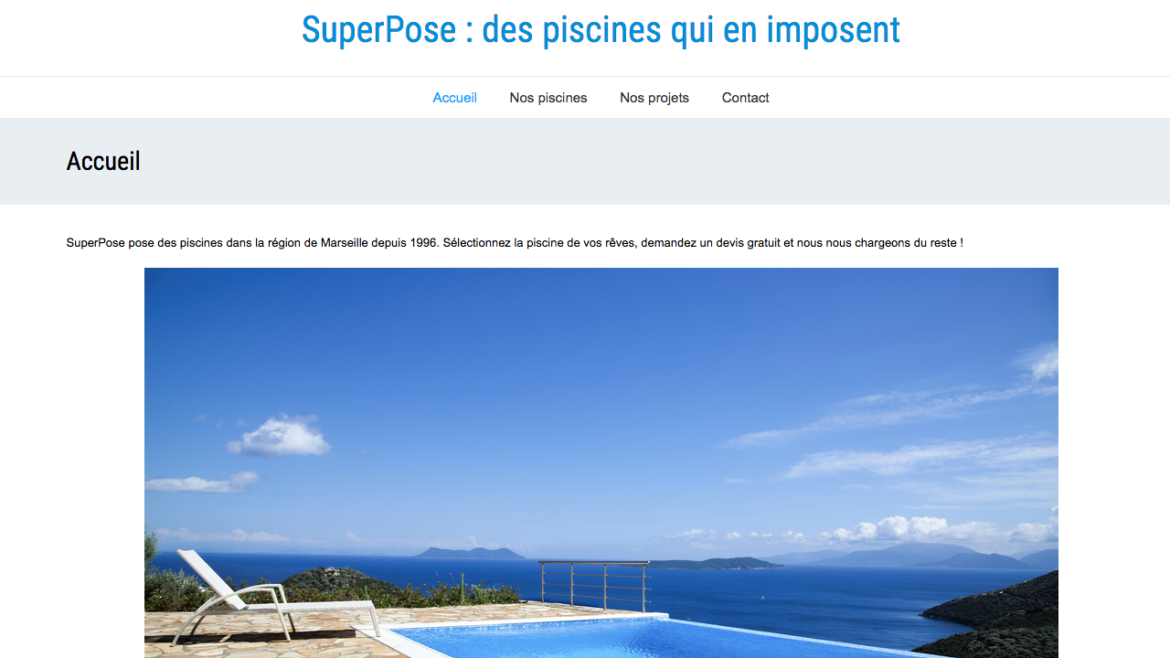 SuperPose avec le thème SeaSun