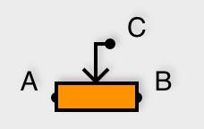 Symbole du potentiomètre linéaire