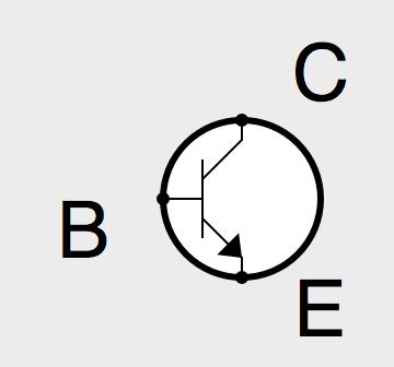 Symbole électrique d'un transistor NPN