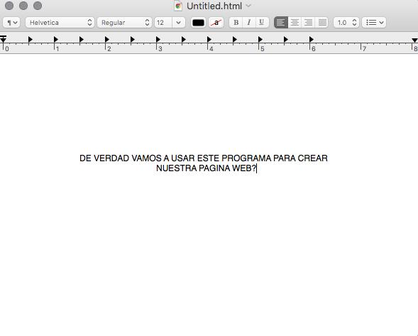 Captura de Text Edit en Mac